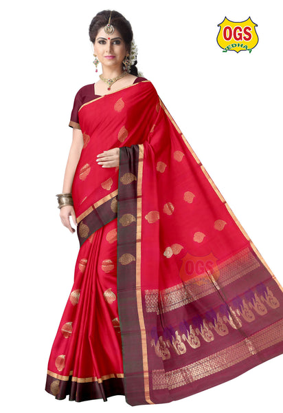 SILK COTTON SAREE - SC029