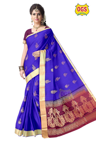 SILK COTTON SAREE - SC031