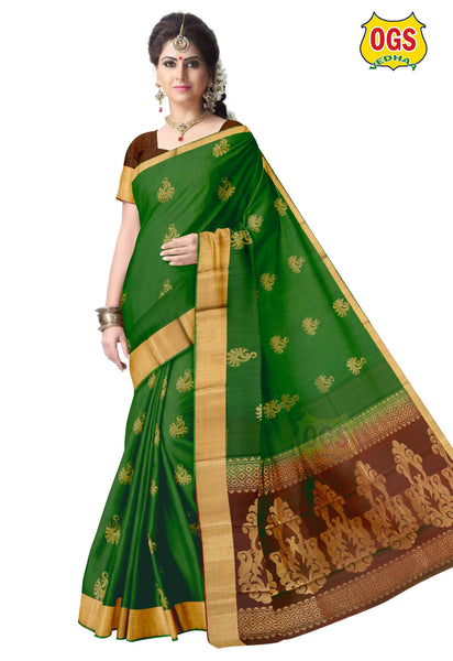 SILK COTTON SAREE - SC032