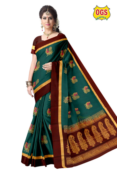 SILK COTTON SAREE - SC033