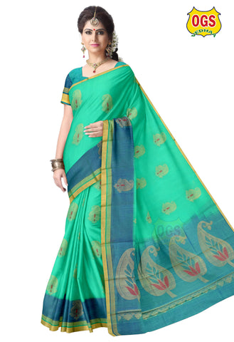 SILK COTTON SAREE - SC034