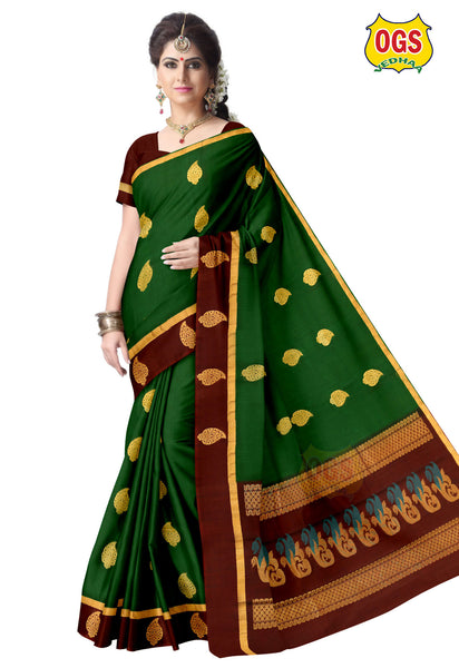 SILK COTTON SAREE - SC035