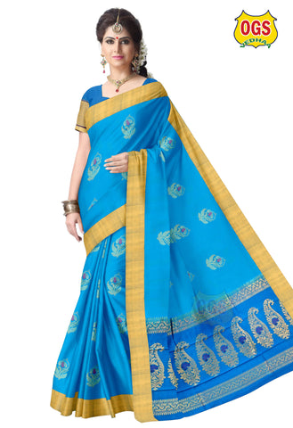 SILK COTTON SAREE - SC036