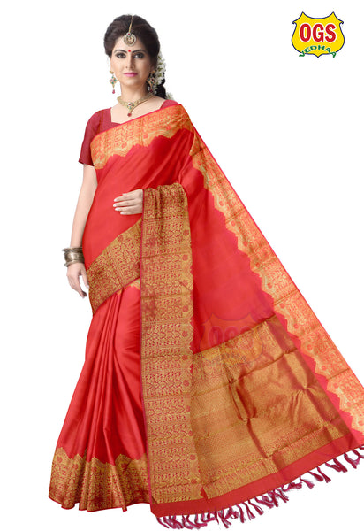 WEDDING SILK SAREE - V32K