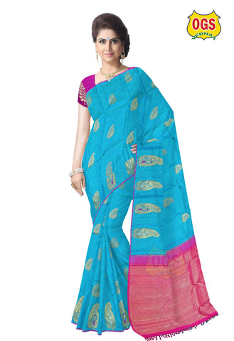BRIDAL  SILK SAREE - V32L