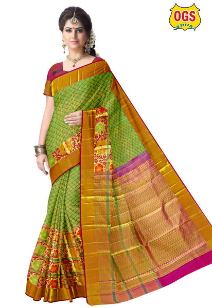 BRIDAL SILK SAREE - W005