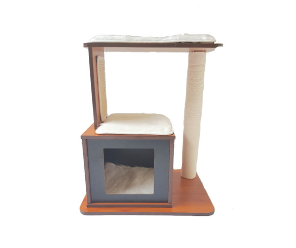 Wooden Cat Tower--single box