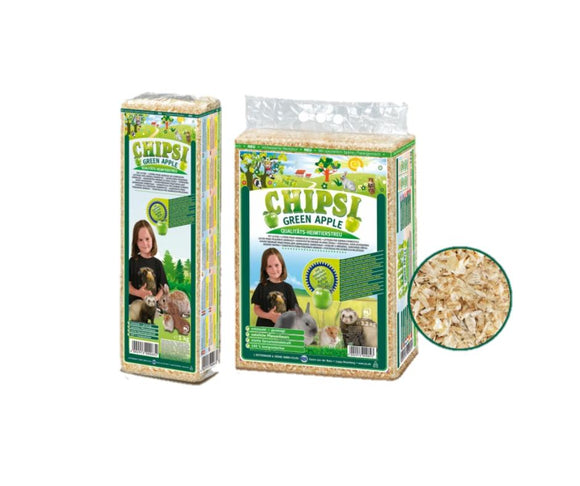 Chipsi--Green Apple Scent Softwood Bedding --3.2kg