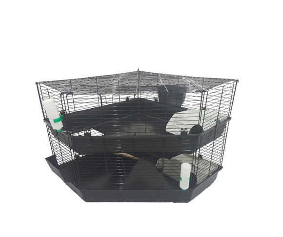 Two Storey Indoor Corner Cage