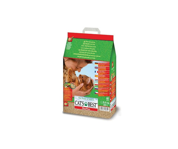Cat's Best Öko Plus Organic Cat Litter 20L (8.6kg)