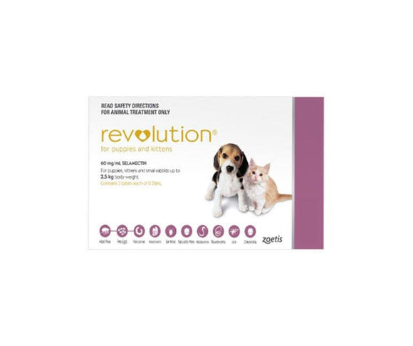 Revolution for Puppies and Kittens 3pks Up to 2.5kg
