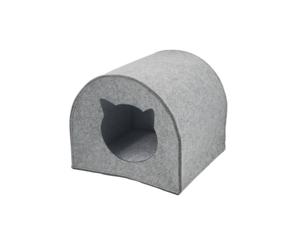 Felt Cat House with Cushion