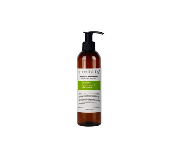Essential Dog Adult and Puppy Shampoo 250ml: Lavender, Lemon Peel And Clary Sage