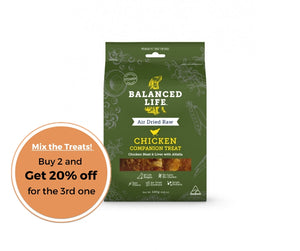 Balanced Life Companion Treats Chicken for Dogs 140g