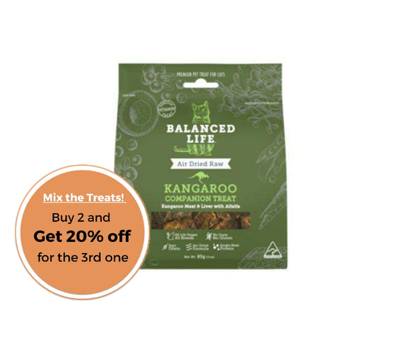 Balanced Life Companion Treats Kangaroo for Cats 85g