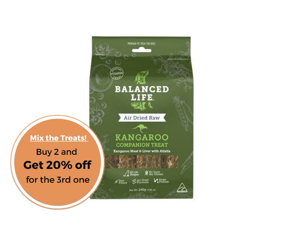 Balanced Life Companion Treats Kangaroo for Dogs 140g
