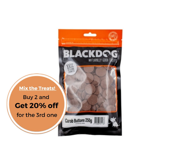 BLACKDOG Carob Buttons 250g