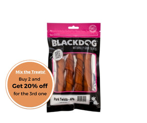 BLACKDOG Pork Twists -- 4 pack