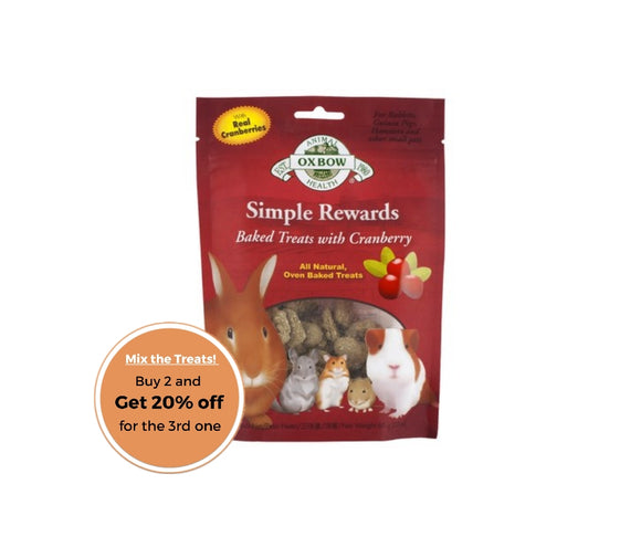 Oxbow simple rewards cranberry treats 60g