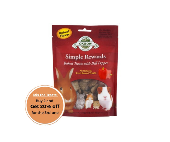 Oxbow simple rewards bell pepper treats 60g