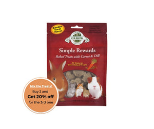 Oxbow simple rewards carrot and dill treats 60g
