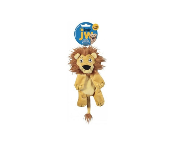 JW Crackle Heads Plush Lion