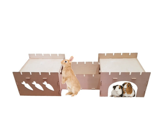 Wooden Carrots House and Hidey for Rabbits and Guinea Pigs