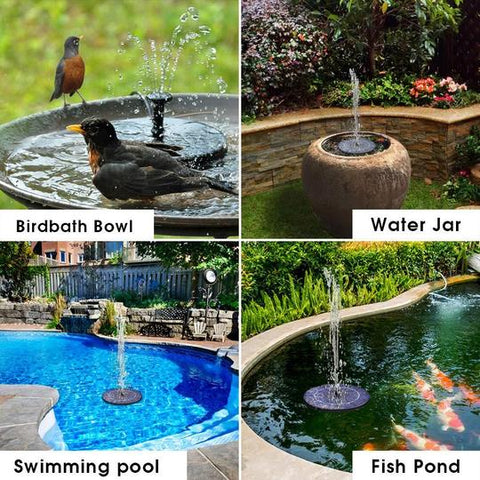 Image of Solar Powered Fountain for Garden