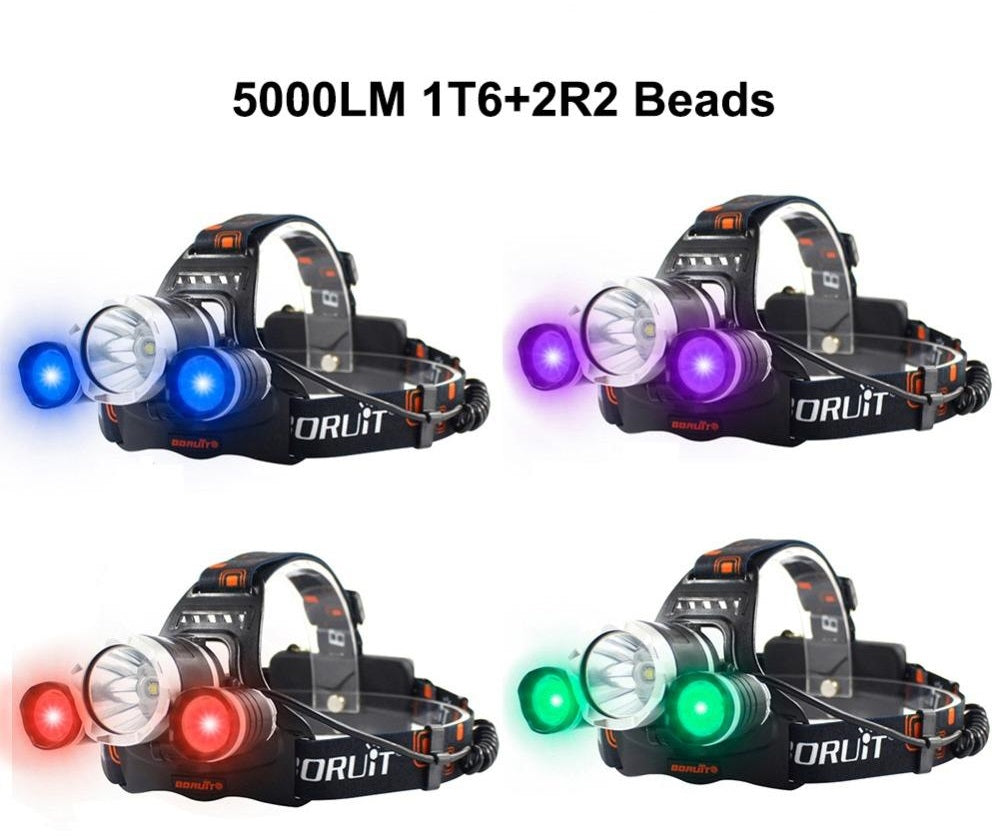 LED Headlamp 3 Modes 5000LM