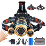 LED Headlamp Zoomable 15000LM