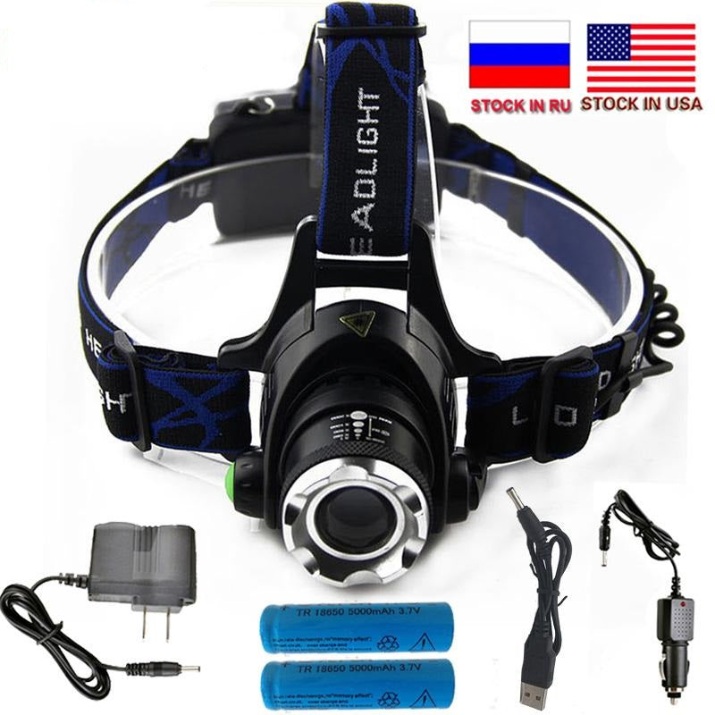 6000LM Zoomable Waterproof  Headlight