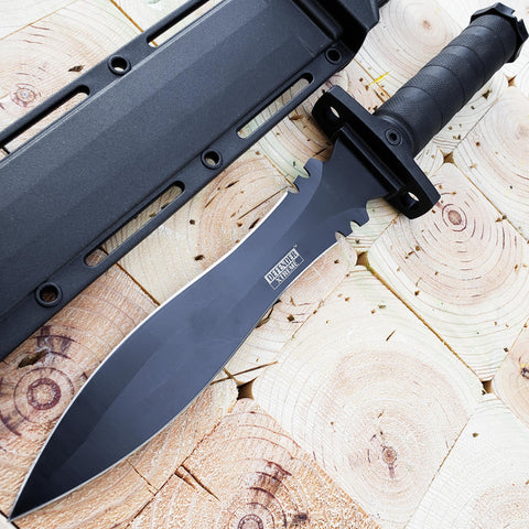 "Image of 13.5"" Military Tactical Bayonet Hunting Fixed Blade Survival Rambo Bowie Knife"