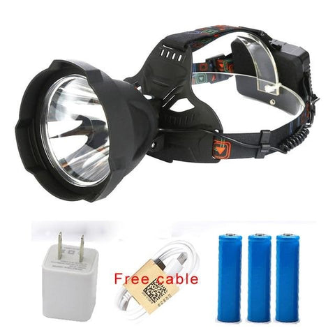 Image of USB Rechargeable LED Headlamp - Waterproof