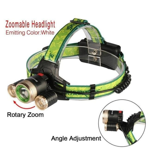 Image of USB Rechargeable 32000 LM LED Headlight