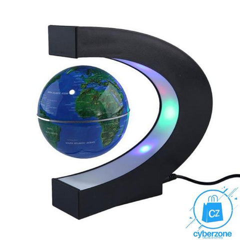 Anti Gravity Magnetic Floating Globe World Map with LED Light - Cyber Zone Online