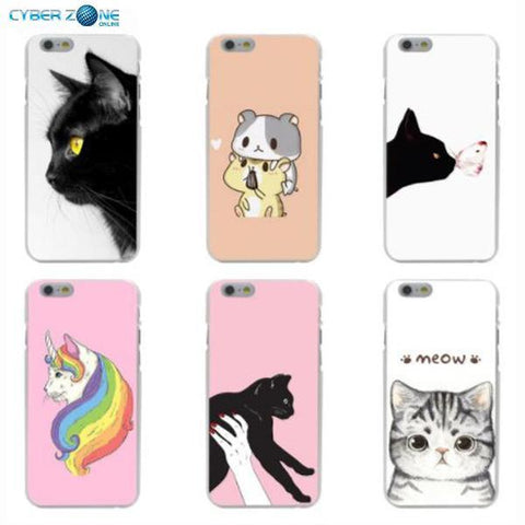 Image of Cat Staring Eyes Hard Coque Shell Phone Case for Iphone - Cyber Zone Online