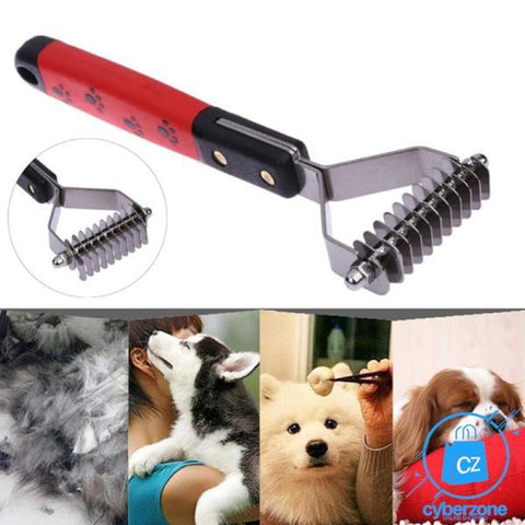 Image of Double Side Dog Brush Dematting Deshedding Trimmer Tool - Cyber Zone Online