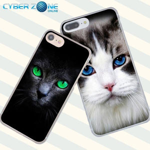 Cat Staring Eyes Hard Coque Shell Phone Case for Iphone - Cyber Zone Online