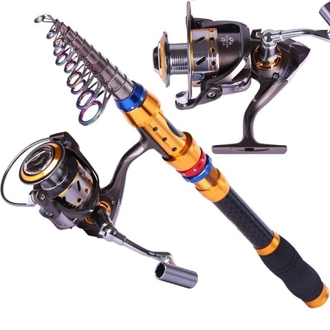 Carbon Telescopic Fishing Rod/Reel
