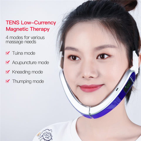 Image of V-Care Infrared Hot Compress V-Shape Slimming Facial Massager
