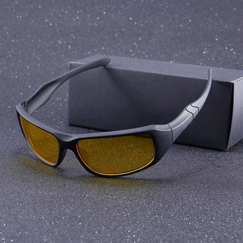 Night Vision Anti Glare Wraparound Glasses - Cyber Zone Online