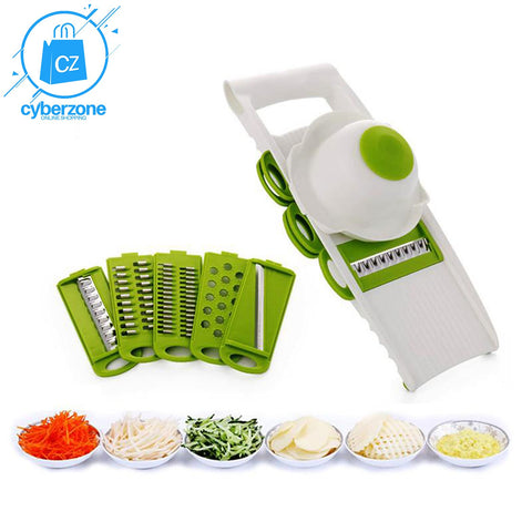 Image of Mandoline Vegetable Cutter with 5 Stainless Steel Blade - Cyber Zone Online