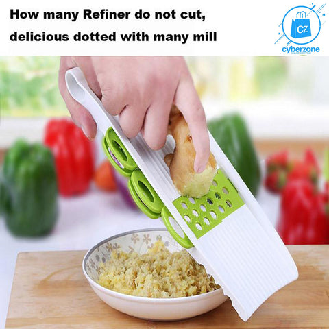 Mandoline Vegetable Cutter with 5 Stainless Steel Blade - Cyber Zone Online