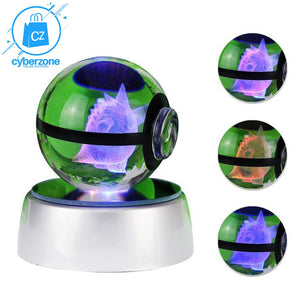 Pokemon LED Crystal Lamp - Cyber Zone Online