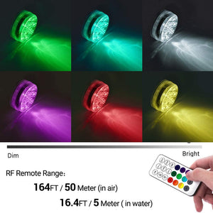 Submersible LED Pool Lights with Remote
