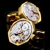 Gold-Color Watch Movement Cuff Link - Cyber Zone Online