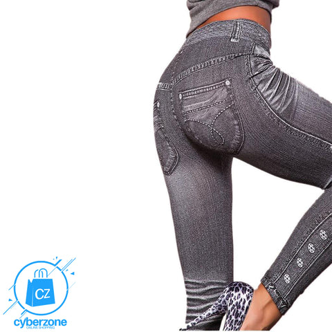 Image of Work Out Fashion Denim Leggings - Cyber Zone Online