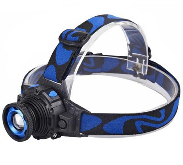Rechargeable Waterproof 3 Modes Zoomable LED Headlight