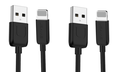 Image of 1M USB Cable for iPhone and Android 2 Packs Each - Cyber Zone Online