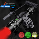 PocketmanProfessional Tactical Flashlight Red/Green/ White Light